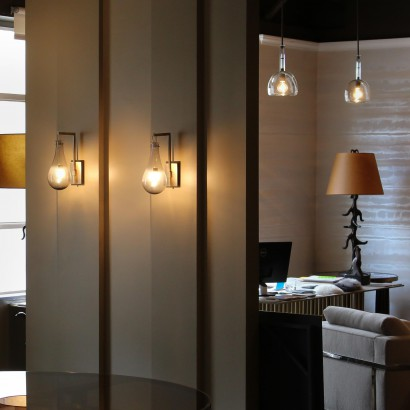 Jean De Merry New York Showroom & Veronese Drop Wall Lamps
